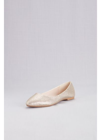 David's Bridal Yellow (Allover Glitter Pointed Toe Flats)
