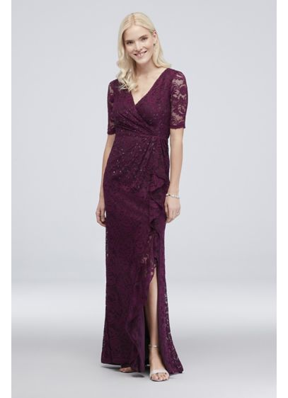 Long Sheath Elbow Sleeves Cocktail and Party Dress - Adrianna Papell