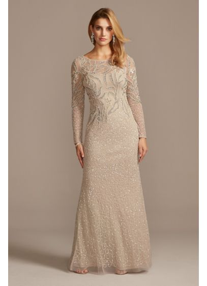Long Sheath Long Sleeves Formal Dresses Dress - Adrianna Papell