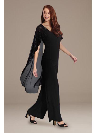 Long Jumpsuit Capelet Formal Dresses Dress - Adrianna Papell