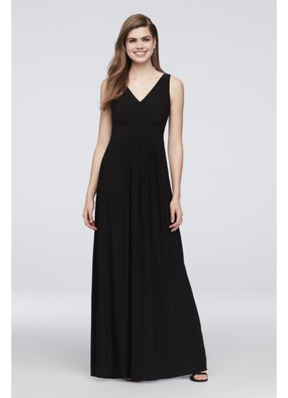 Long Black Soft & Flowy Reverie Bridesmaid Dress