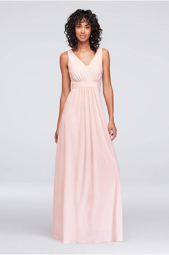 Jersey Bridesmaid Dress With Sequin Back A Simple And Comfortable Sheath Silhouette
