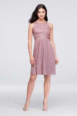 High Neck Party Dress
