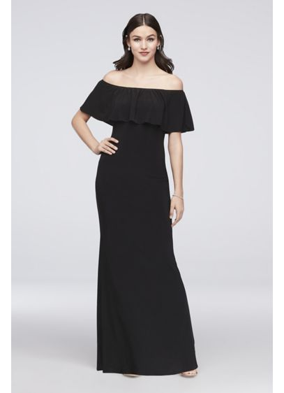 f223a1cbe80f Off-the-Shoulder Jersey Bridesmaid Dress | David's Bridal