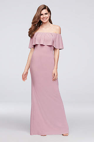 Long Sheath Off The Shoulder Prom Dress