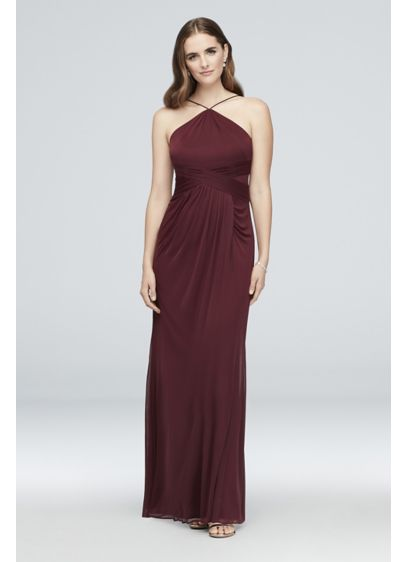 Long Red Soft Flowy Reverie Bridesmaid Dress