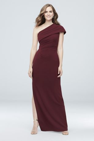 Long Sheath One Shoulder Dress - DB Studio