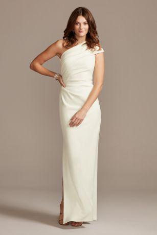Long Sheath One Shoulder Dress - DB Studio