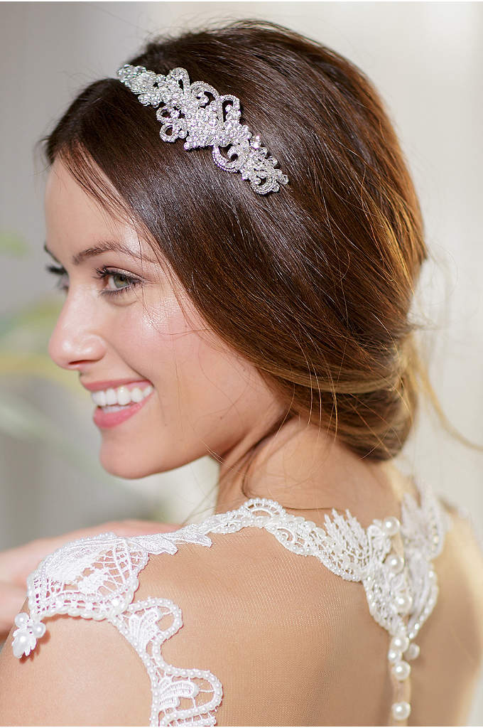 Crystal Filigree Headband - This beautiful, hand-wired filigree headband sparkles with beads,