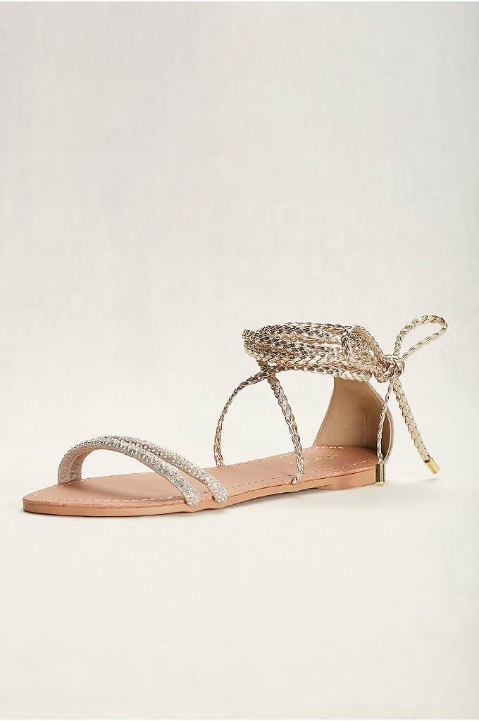 Braided Goddess Sandal - Channel your inner Athena in these gilded braided