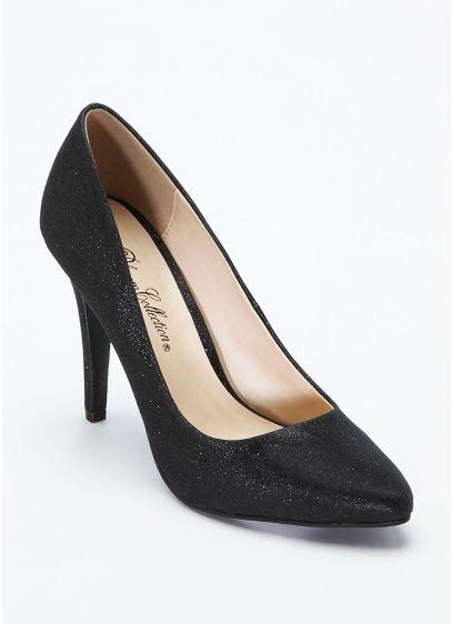 Grey (Glitter Crepe High Heel Pointy Toe Pump)