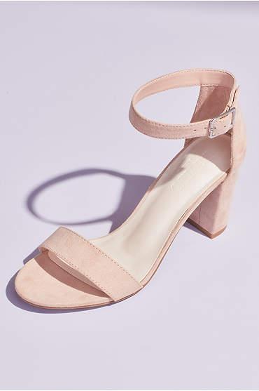 Block Heel Ankle Strap Sandal