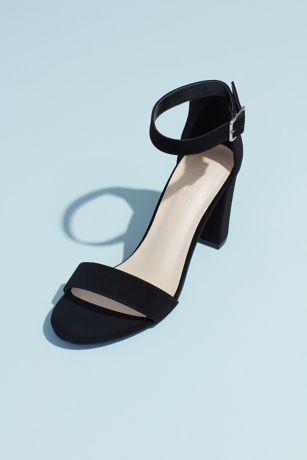 David's Bridal Beige;Black;Grey;Multi;Pink;White;Yellow Heeled Sandals (Block Heel Ankle Strap Sandal)
