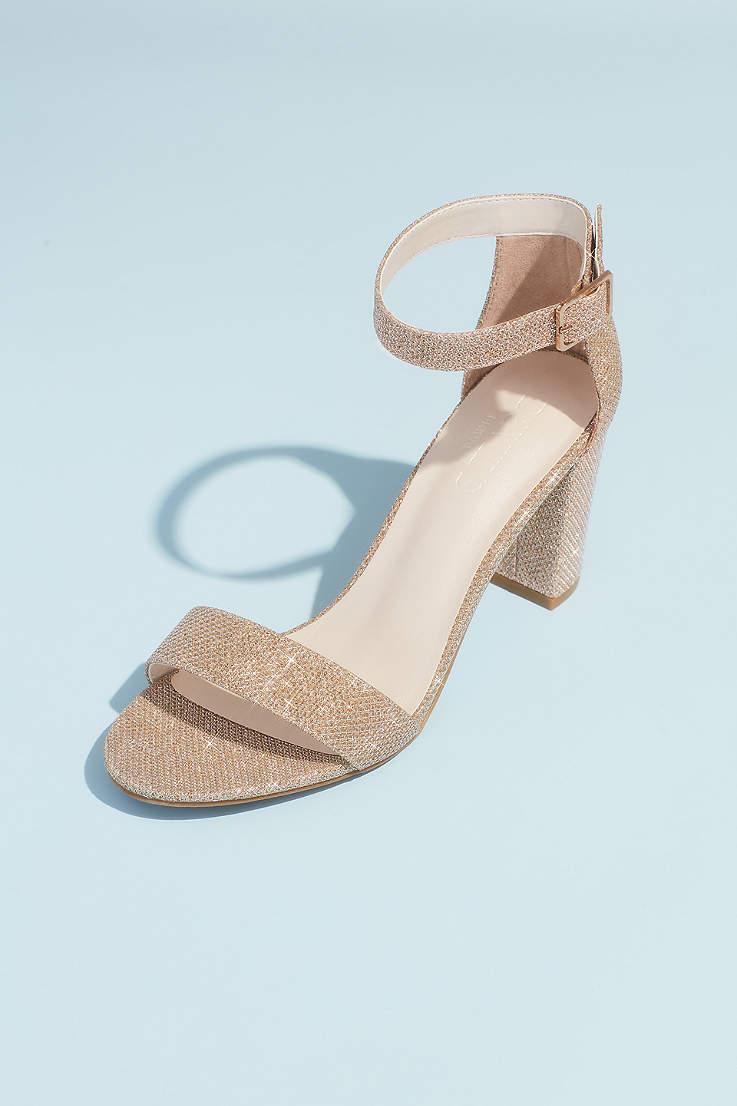 Womens Super High Heels Black Glitter Shoes Platform Sandals Clear 8 Inch Heels Size: 5