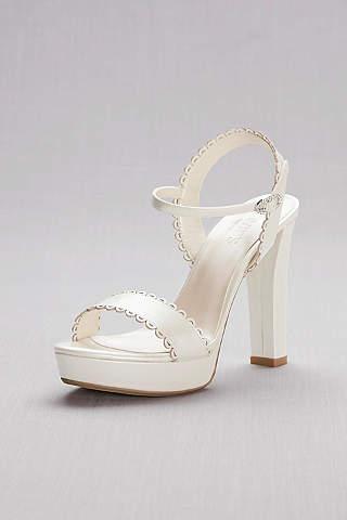 Sandalias de Plataforma Perladas Con Bordes