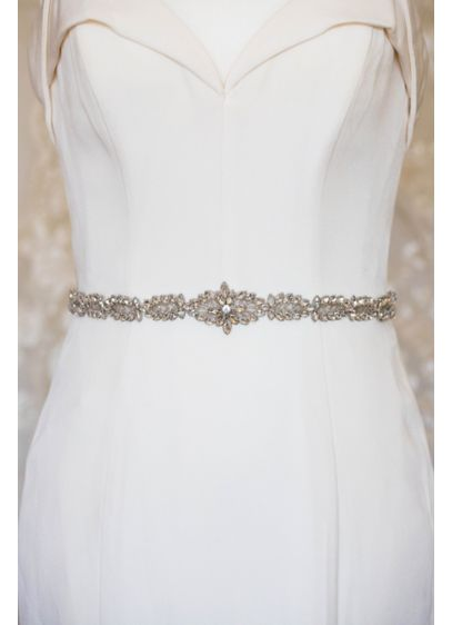 Handmade Swarovski Crystal Sash - Adorned with brilliant Swarovski crystals, this sash is