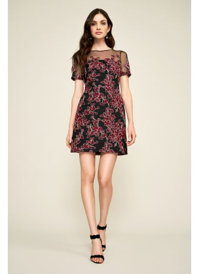 Short Sheath Short Sleeves Cocktail and Party Dress - Tadashi Shoji