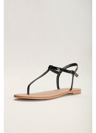Qupid Yellow (T-Strap Metallic Sandal)