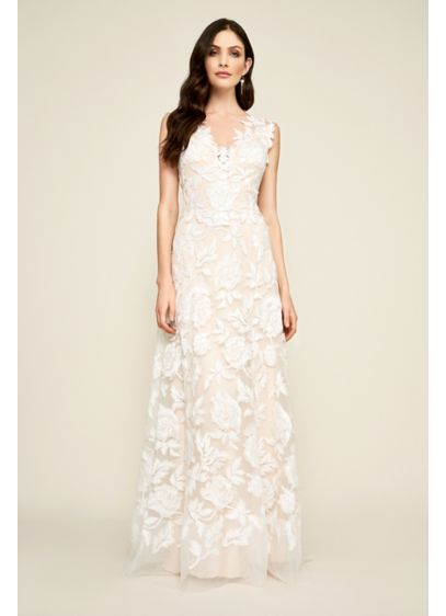 Long A-Line Beach Wedding Dress - Tadashi Shoji