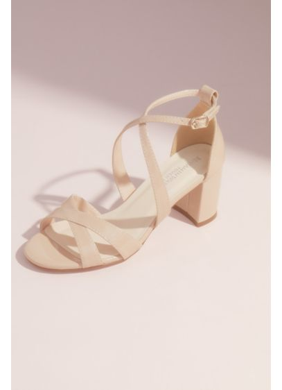 Double Crisscross Block Heel Sandals - You'll be comfortable and stylish in this pair