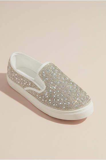 Crystal Embellished Slip-On Sneaker