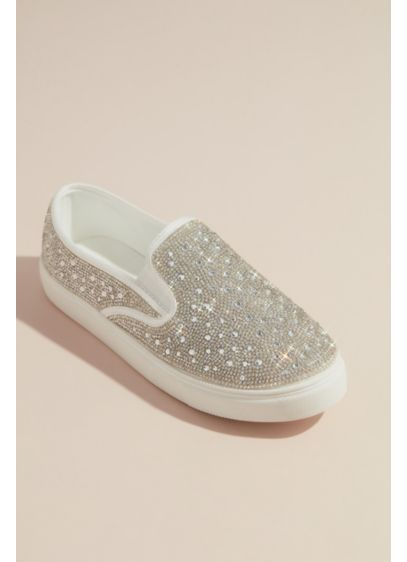 Crystal Embellished Slip-On Sneaker - These eye-catching slip-on sneakers put the fun in
