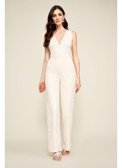Long Jumpsuit Boho Wedding Dress - Tadashi Shoji