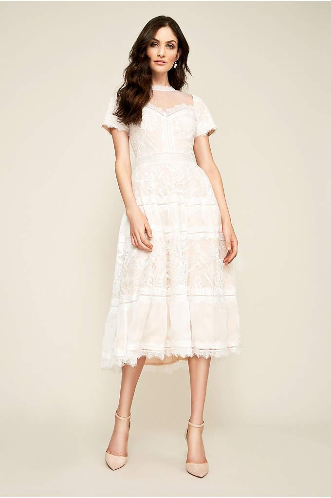 Camila Tea Length Wedding Dress - This tea-length wedding dress is full of romantic