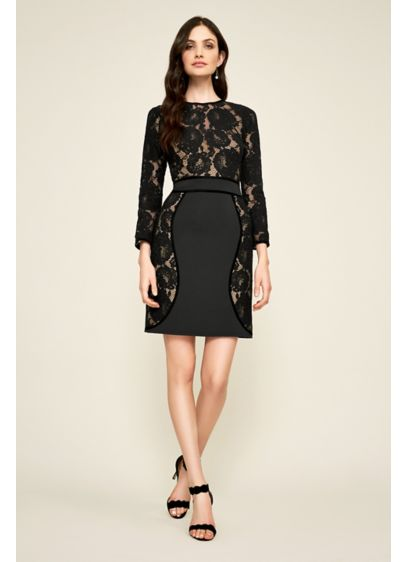 Short Sheath Long Sleeves Cocktail and Party Dress - Tadashi Shoji