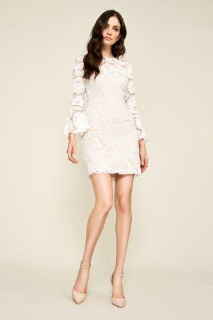 Short Lace Bridal Dress