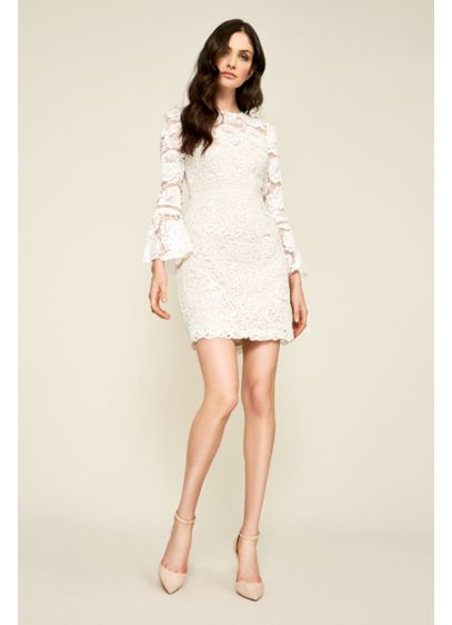 Short Sheath Beach Wedding Dress - Tadashi Shoji