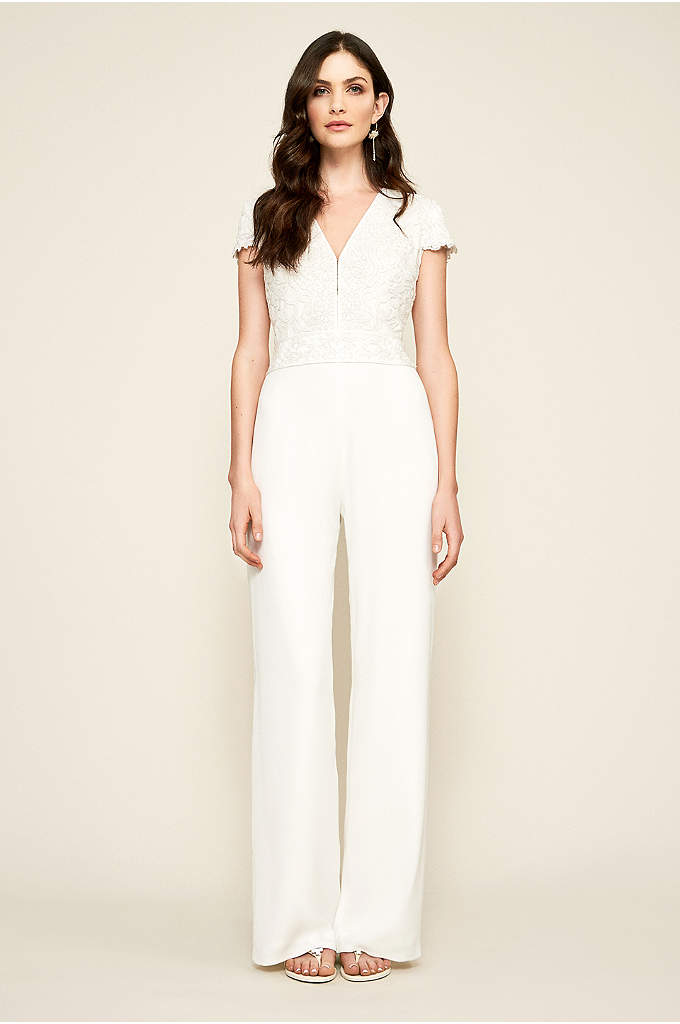 Zeina Lace and Crepe Jumpsuit - A chic option for a casual wedding or