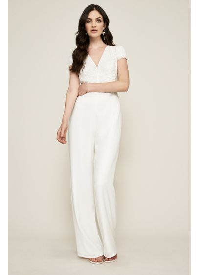 Crepe Jumpsuit with Side Pockets - A chic option for a casual wedding or