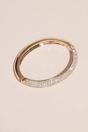 Swarovski Bangle Bracelet with Crystal Rows | David's Bridal