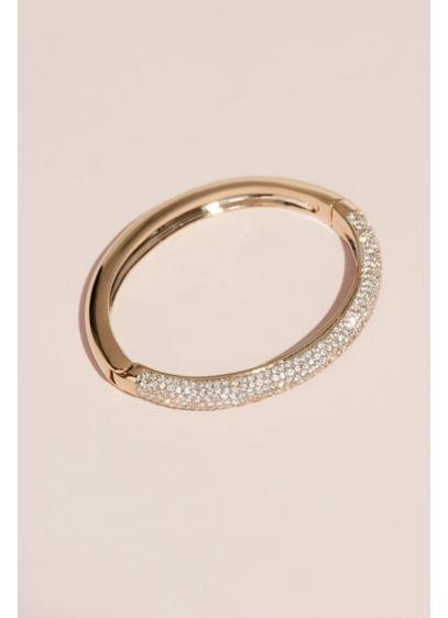 Swarovski Bangle Bracelet with Crystal Rows - Wedding Accessories