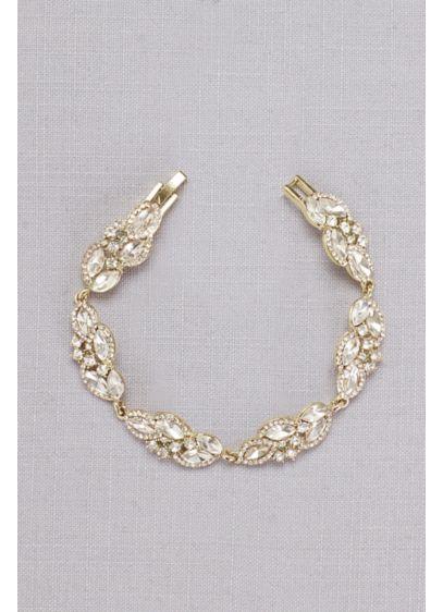 Faceted Crystal Leaves Bracelet - Wedding Accessories
