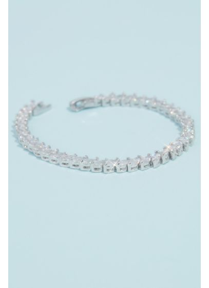 David's Bridal Grey (Marquise Cut Cubic Zirconia Tennis Bracelet)