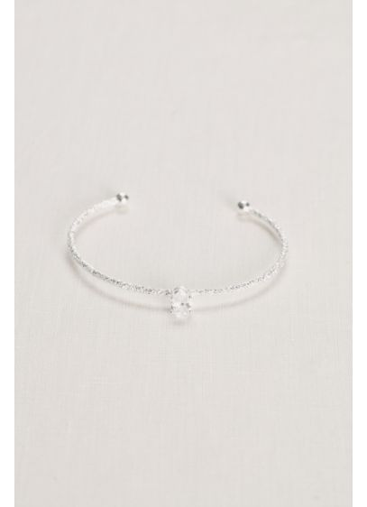 Sparkle Crystal Solitaire Bangle - Wedding Accessories