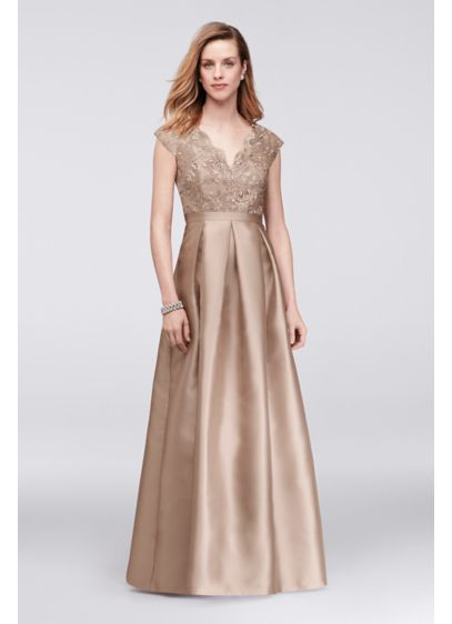Long Ballgown Cap Sleeves Cocktail and Party Dress - Chetta B
