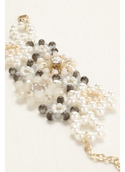Multi Color Beaded Flower Bracelet - Wedding Accessories
