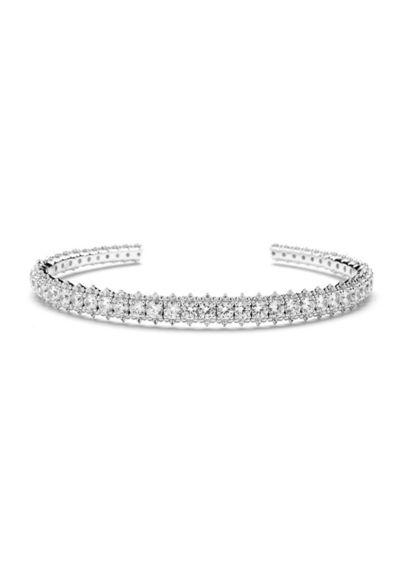 Nadri Grey (Sterling Silver Cubic Zirconia Cuff Bracelet)