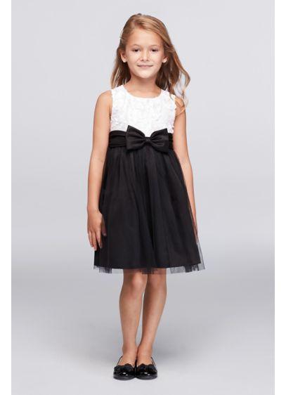 Short Black Soft & Flowy Iris and Ivy Bridesmaid Dress