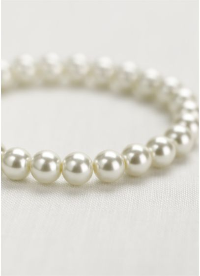 David's Bridal Ivory (Classic Stretch Pearl Bracelet)