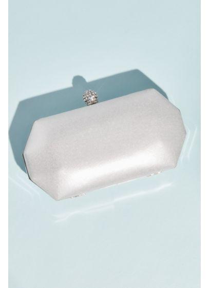 Geometric Metallic Crystal Clasp Minaudiere Clutch - Wedding Accessories