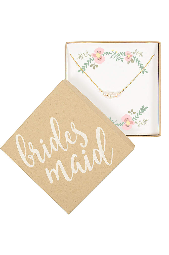Personalized Three Pearl Bracelet