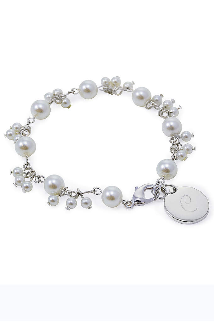 Personalized Romance Pearl Bracelet - Both whimsical and sophisticated our Personalized Romance Pearl