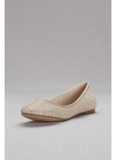 Ballet Flat with Crystal Detail - These versatile ballet flats are perfect for day