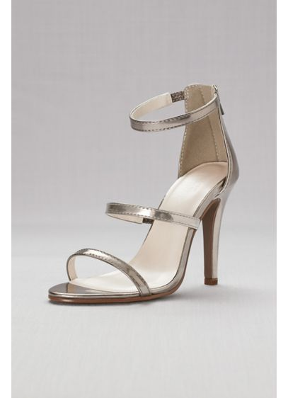 David's Bridal Pink (Triple-Strap Metallic Stiletto Sandals)