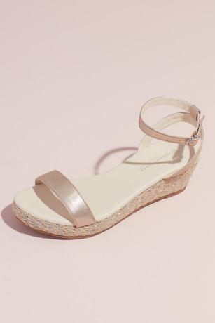 Touch Ups Beige;Grey Wedges (Metallic Strap Espadrille Wedge Sandals)