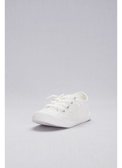 Madden Girl White (Crochet Lace Sneakers)